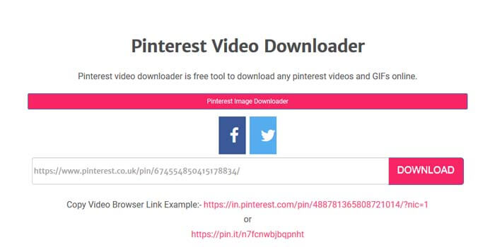 Download Pinterest Videos Without Applications
