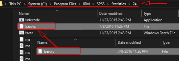 How to activate already installed SPSS 24