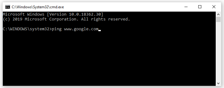 Ping Google to check the internet Connectivity