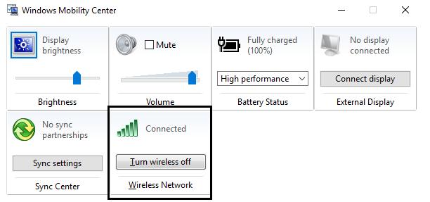 Wireless Wifi ON
