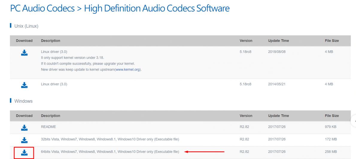 Download Windows 64 Bit Realtek High Definition Audio Codecs