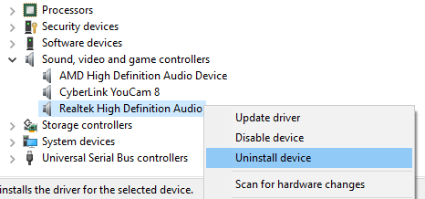 Uninstall the Current Driver
