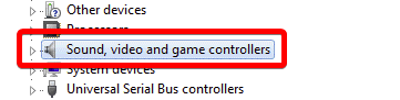 and game controllers category on the list