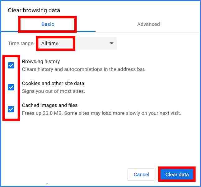chrome settings clearBrowserData