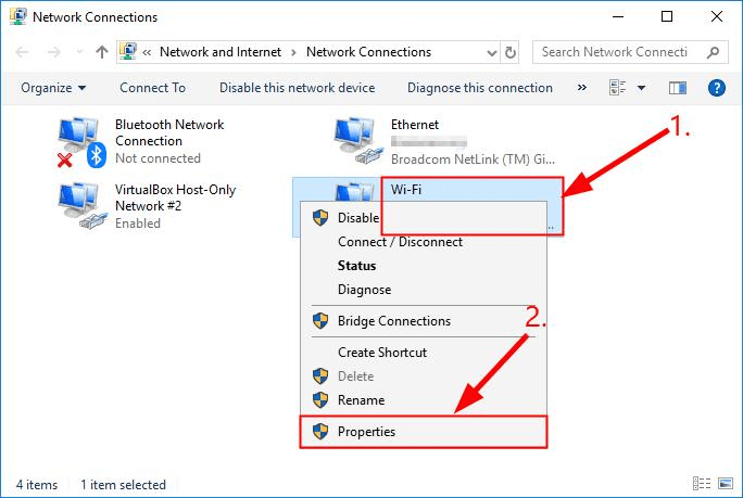 right-click on it, and select Properties