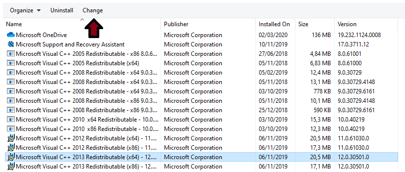Microsoft Visual C ++ 2015 Redistributable