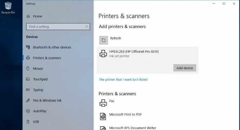 Adding a Printer to a Windows 10 Laptop