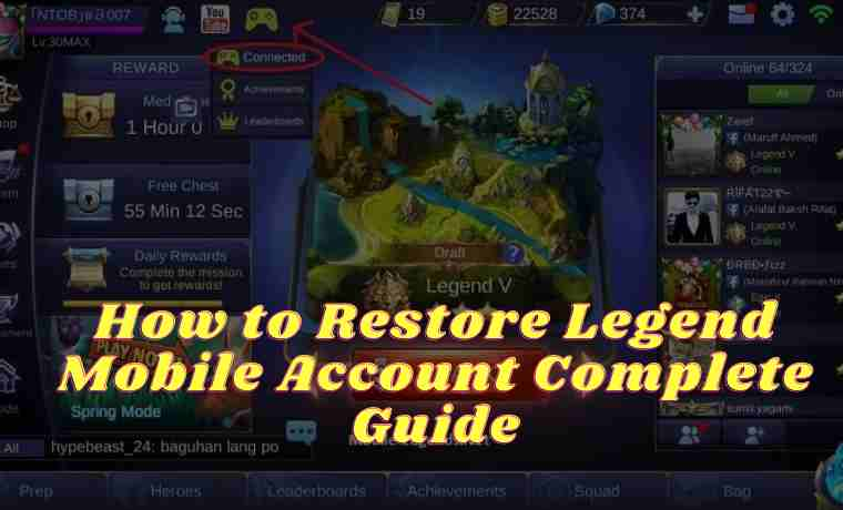 How to Restore Legend Mobile Account Complete Guide