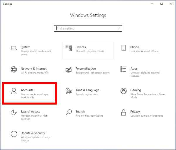 How to create login password in Windows 10