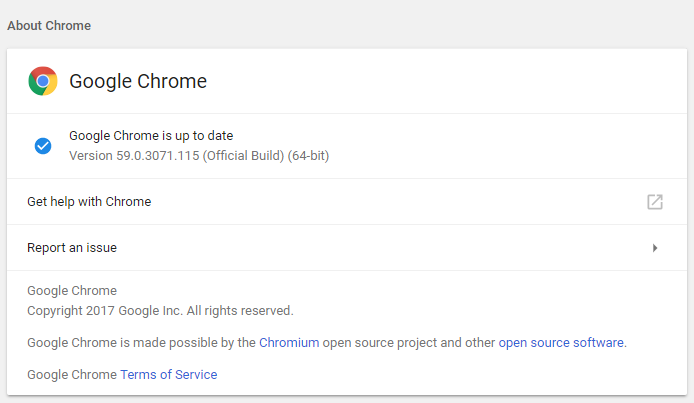 Make sure the chrome is up to date