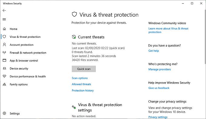 Check for Malware