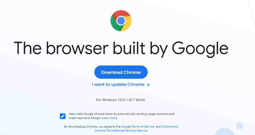 Google Chrome Best Web Browser for Windows 10