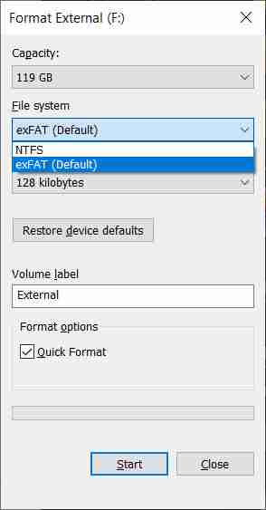 How To Format External Hard Disk on Windows 10