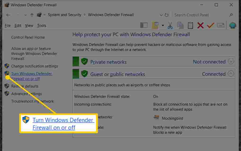 How to Disable Firewall for Windows 10, 8, 7, Vista, and XP