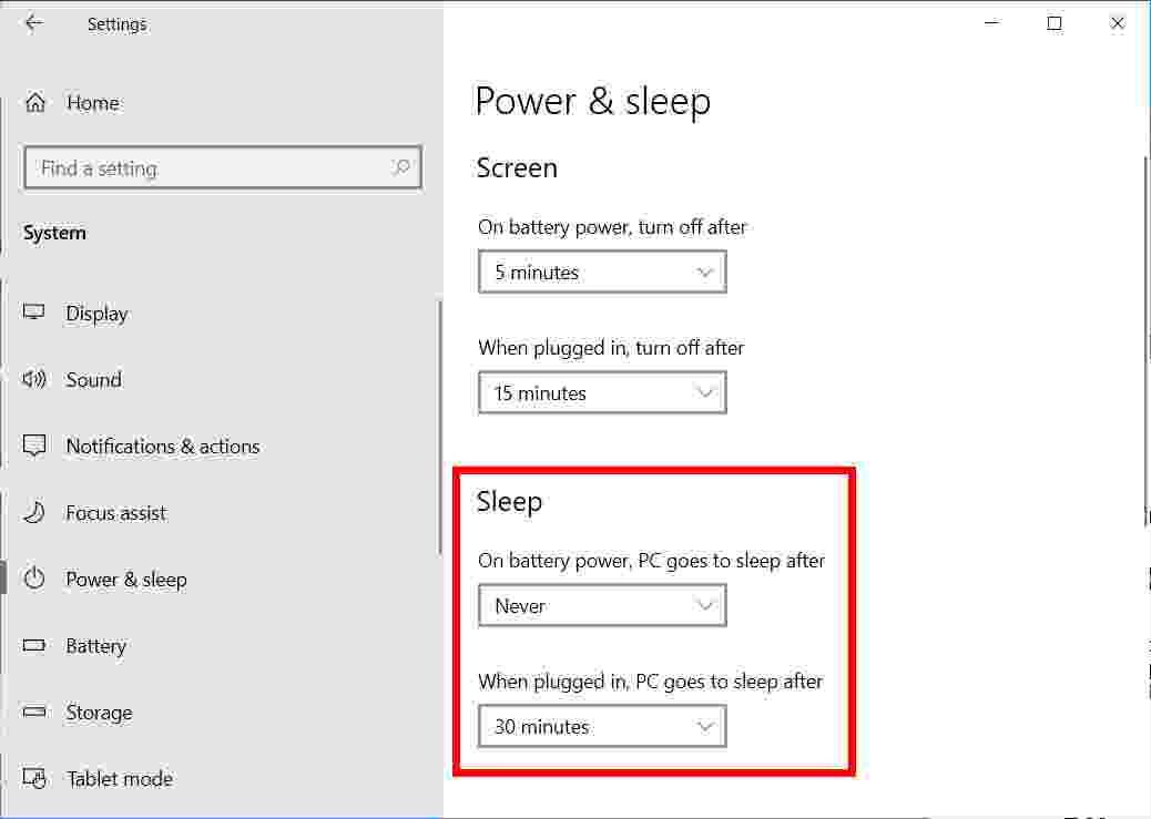 How to Disable Sleep Mode on Windows 10 Laptop