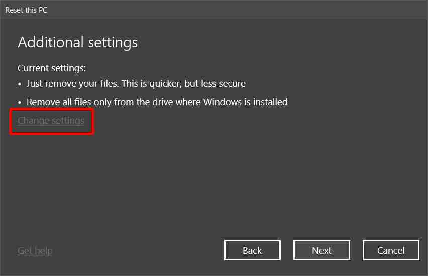 How to Factory Reset Windows 10 Through Settings