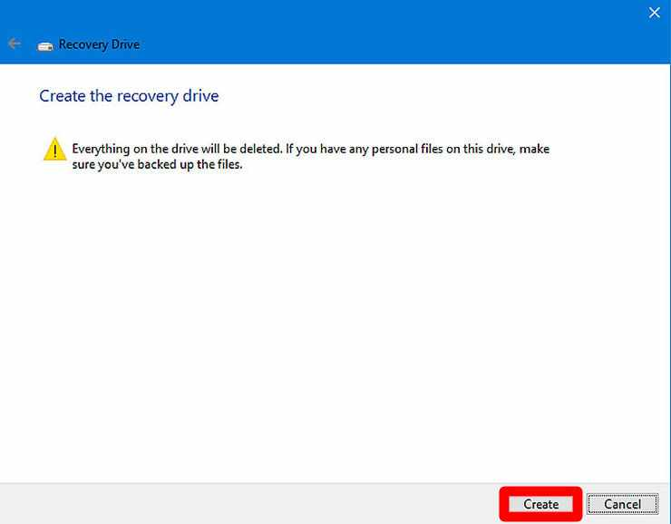 How to Make a USB Recovery Drive