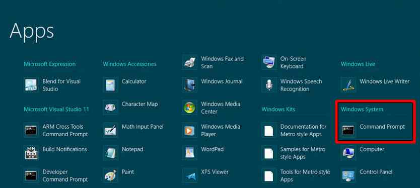 How to Open Command Prompt in Windows 8.1