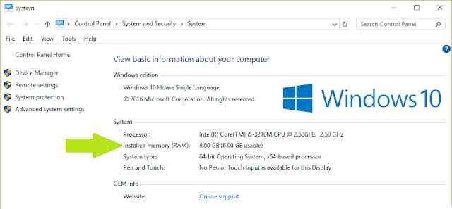 How to Overcome Usable RAM in Windows 7810