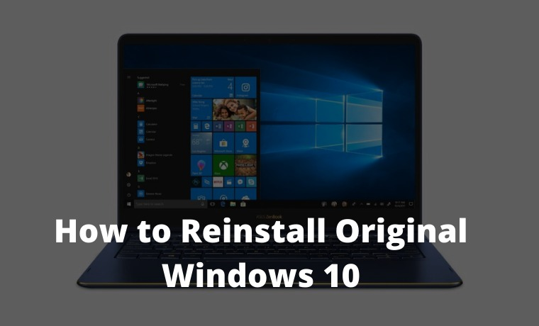 How to Reinstall Original Windows 10