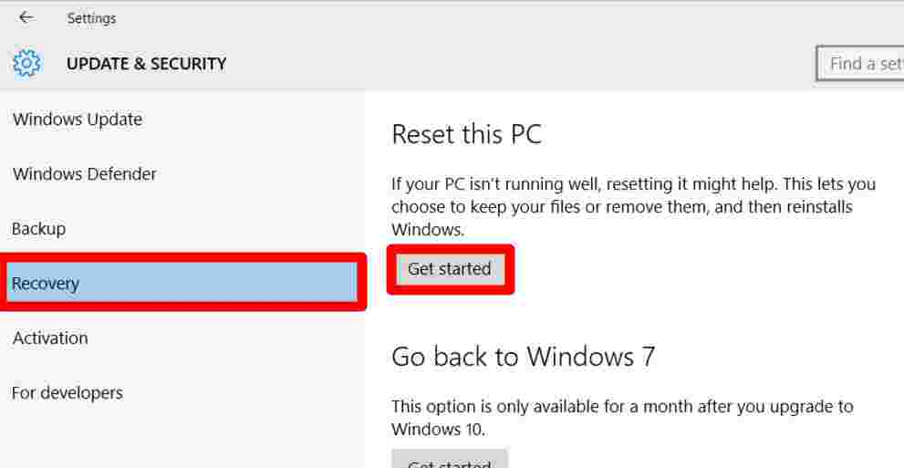 How to Reinstall Windows 10 from PC Settings