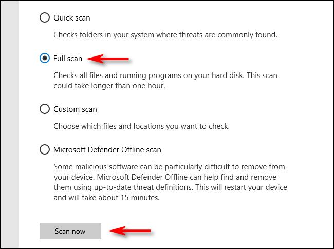How to Scan Laptop With Microsoft Defender Antivirus on Windows 10