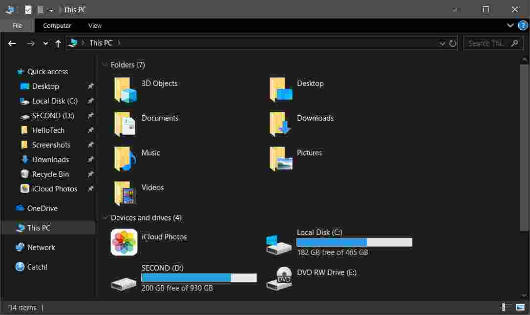 How to Turn File Explorer and Control Panel Dark
