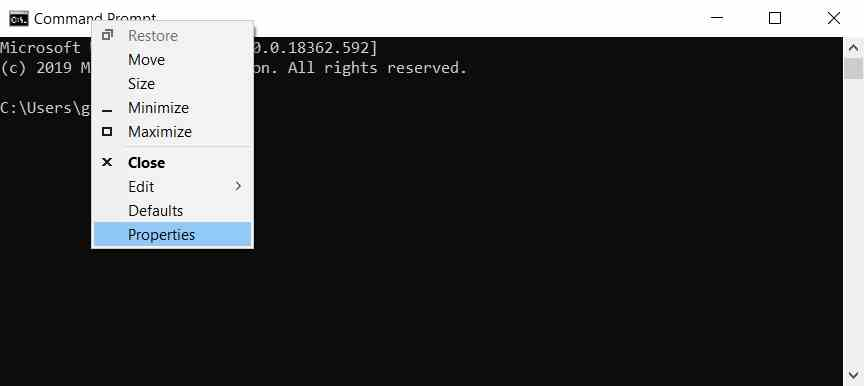 How to copy and paste in Windows 10 from the Command Prompt