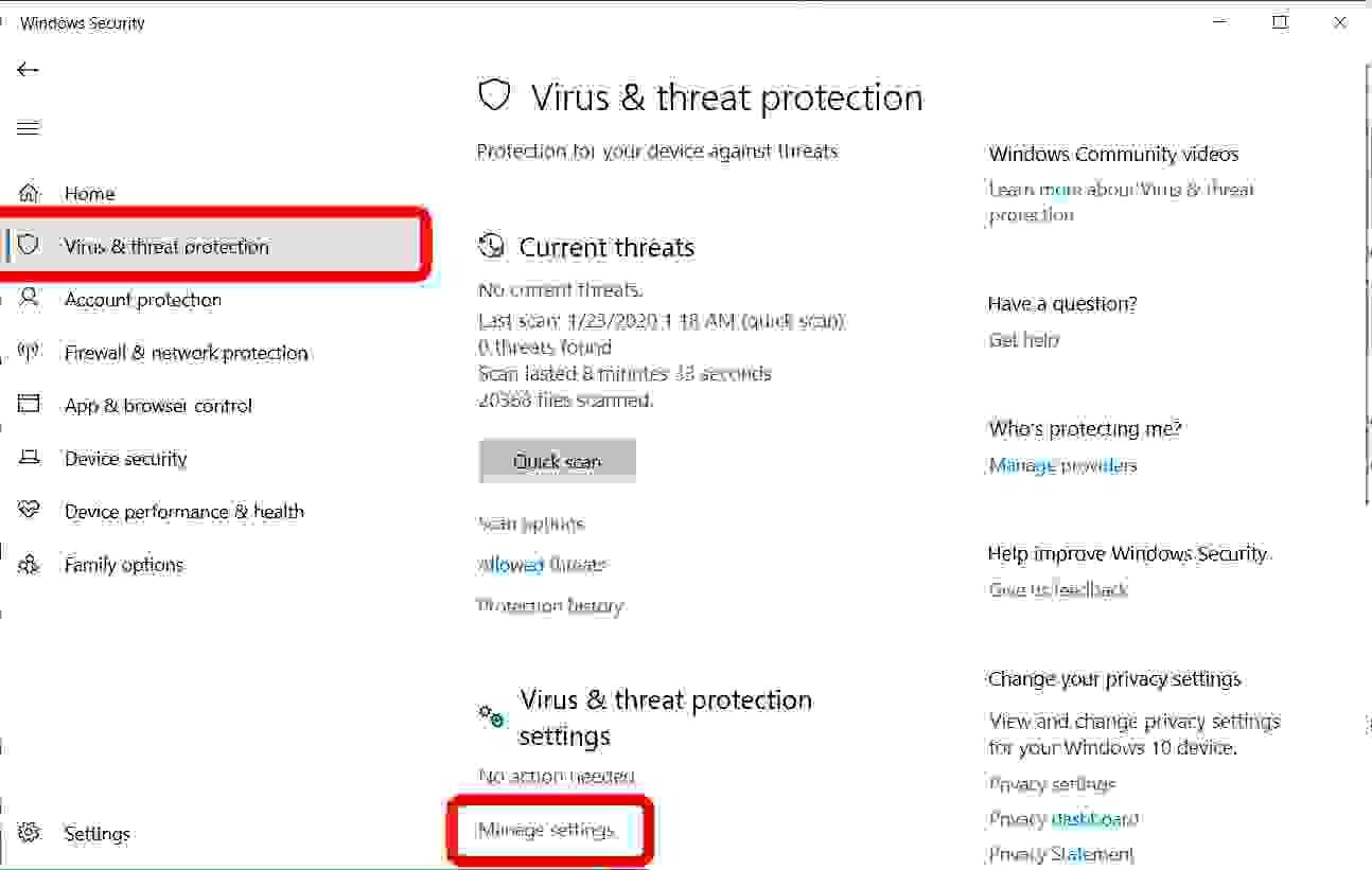 How to temporarily disable Windows Defender