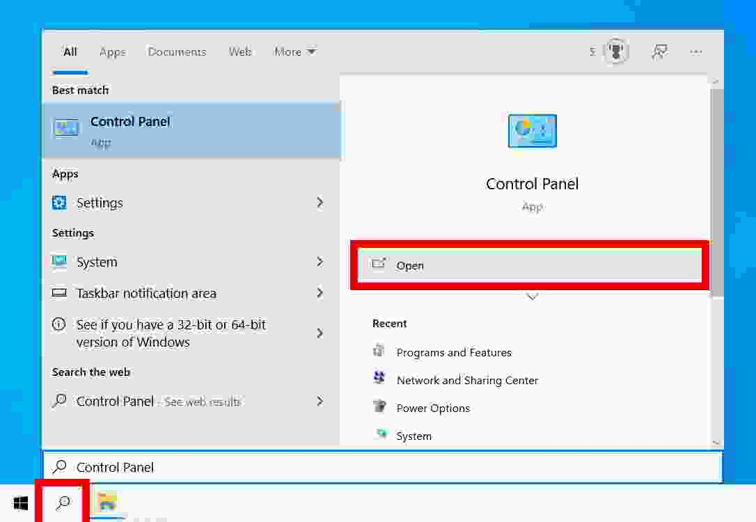 How to uninstall applications on Windows 10 through the Control Panel