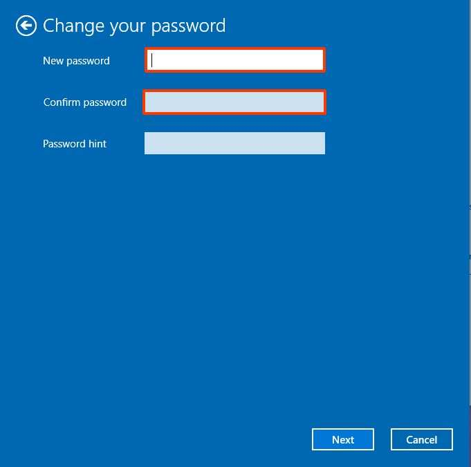 Remove passwords for local accounts