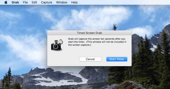 Screenshot Timer with Grab