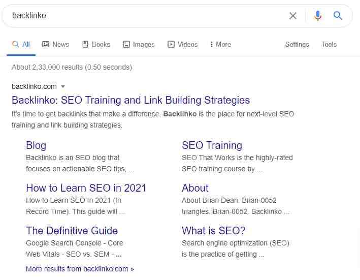 What is Google Sitelinks