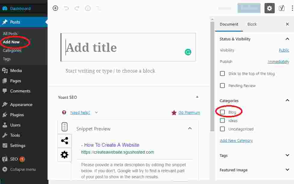 Adding blog articles