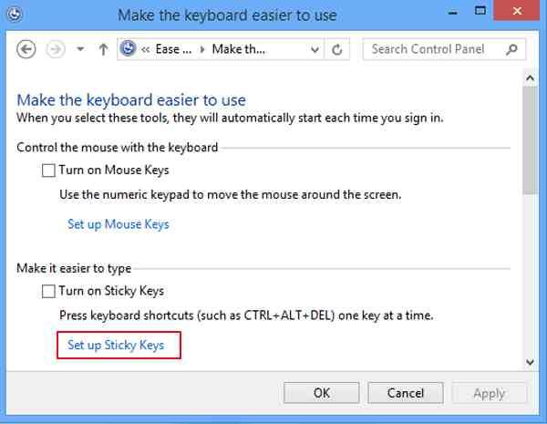 Adjust Keyboard Settings