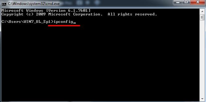 Check Laptop IP Through CMD
