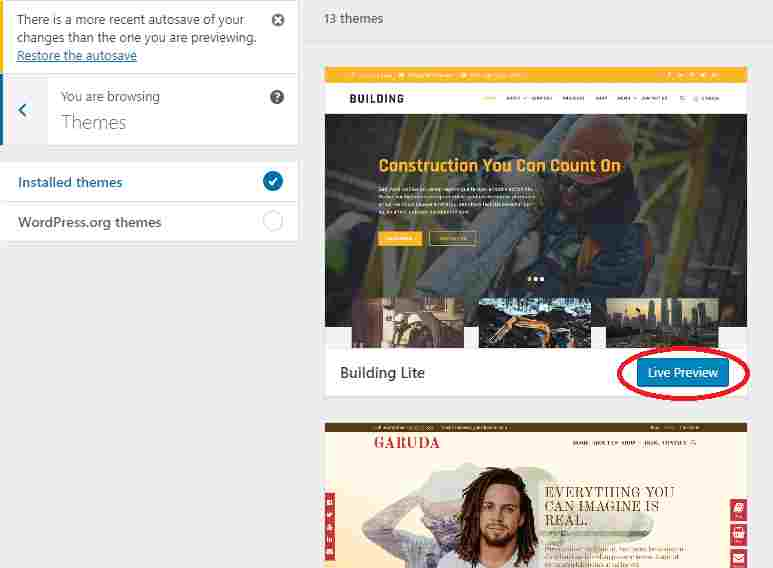 Here's how to access your WordPress theme