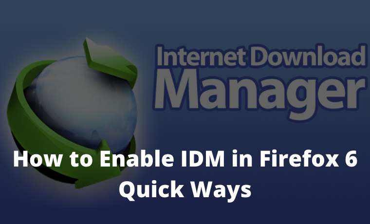 How to Enable IDM in Firefox 6 Quick Ways