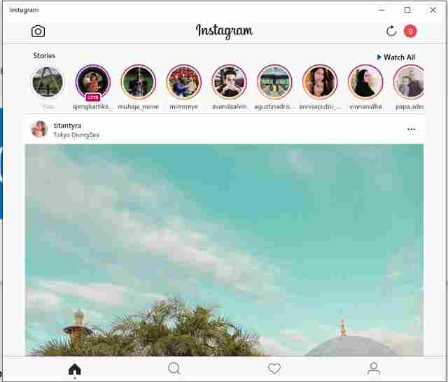 How to download the Instagram application on a Windows 10 laptop