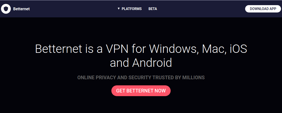 Howto get rid of the positive internet using theBetternetVPN application