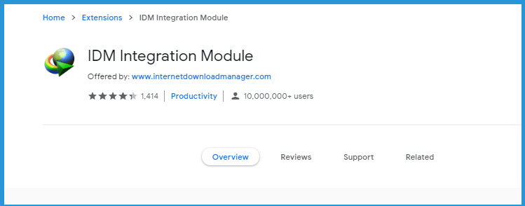 Install IDM Extension on Google Web Store