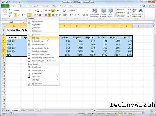 How to Create an Excel Table with Borders
