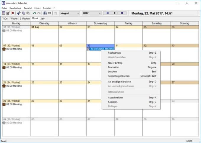 UK's Calendar