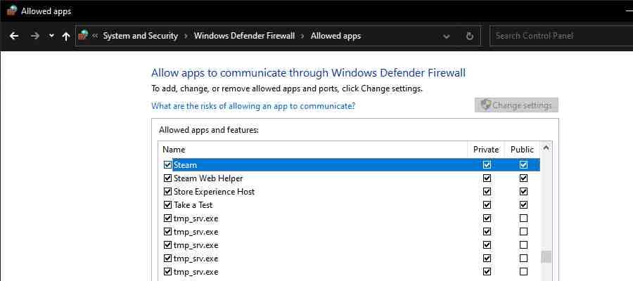 Allow Steam Through Windows Firewall