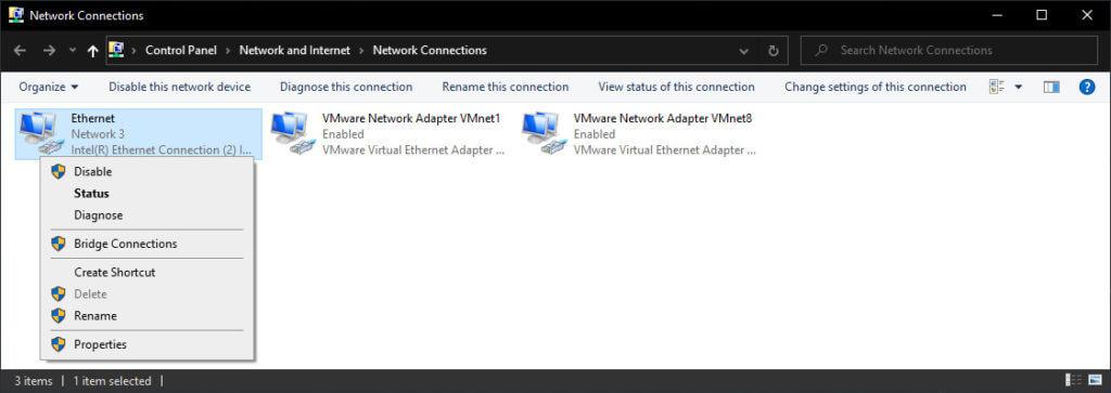Change DNS Server Manually