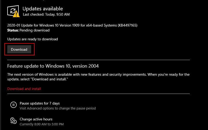 Check Windows Update