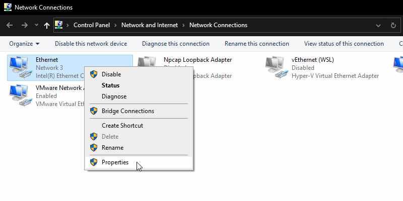 Configure Adapter Settings