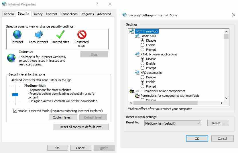 Configure Windows Attachment Manager Settings