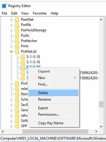 Delete ProfileImagePatch Key