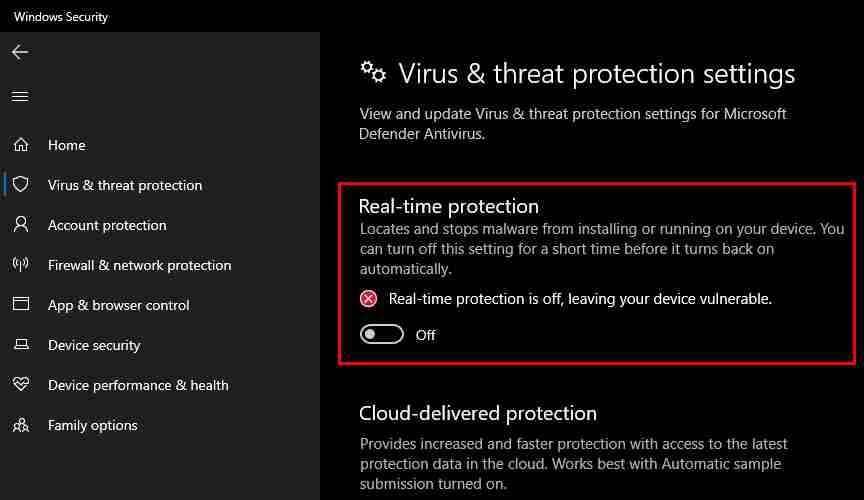 Disable Antivirus And Windows Defender